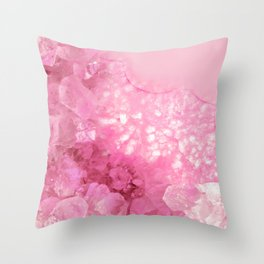Sweet Pink Crystals Throw Pillow