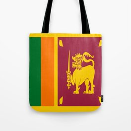 Flag of sri Lanka -ceylon,India, Asia,Sinhalese, Tamil,Pali,Buddhist,hindouist,Colombo,Moratuwa,tea Tote Bag