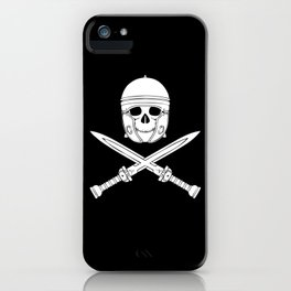 Skull Soldier Gladiator With Swords iPhone Case