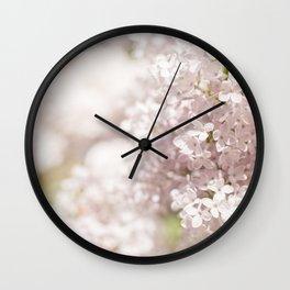 Blooming Lilac Wall Clock