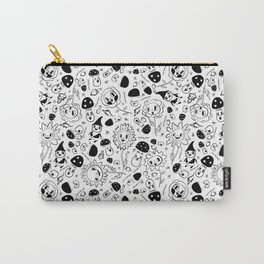 gnomes black and white Carry-All Pouch