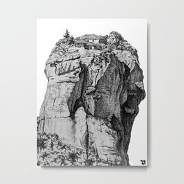 Greek monastery Metal Print