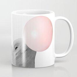 bubblegum baby pig b&w Coffee Mug