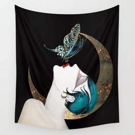 Butterfly Kiss Art Deco Remix Wall Tapestry