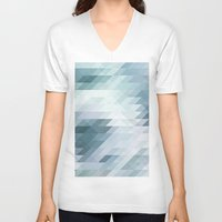 polygon V-neck T-shirts featuring Polygon by Boho déco