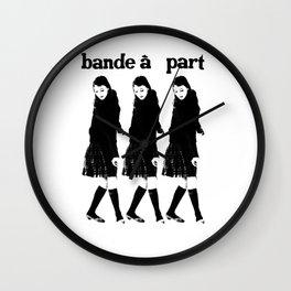 BAND A PART - ANNA KARINA / JEAN LUC GODARD- NOUVELLE VAGUE Wall Clock