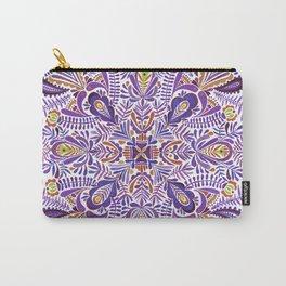 Gloomy purple mandala pattern Carry-All Pouch