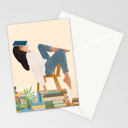 Lost in my books Stationery Cards