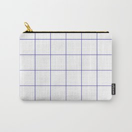 Graph Paper (Navy Blue & White Pattern) Carry-All Pouch