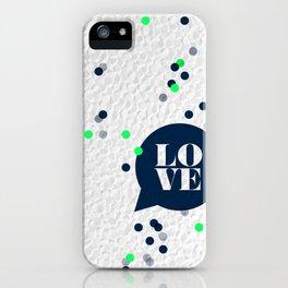 LoveConfetti iPhone Case