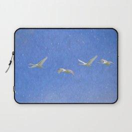 Swans Flying Art Laptop Sleeve