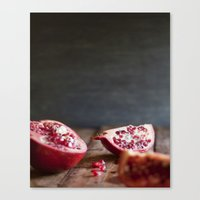 pomegranate Canvas Prints featuring Pomegranate  by Tina Crespo