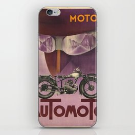 1930 Vintage Art Deco Advertising Poster Automoto Motos Bicycles Motorcycles Version 2 iPhone Skin