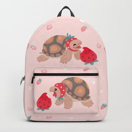 Tortoises love strawberries Backpack