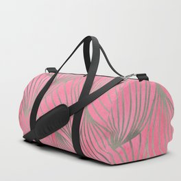 Pretty Pink Palm Petal Print Duffle Bag
