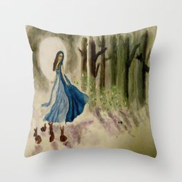 Imbolc Throw Pillow