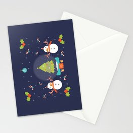 Day 01/25 Advent - Frosty meets his match Stationery Cards