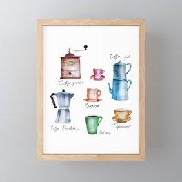 Coffee Time! Framed Mini Art Print
