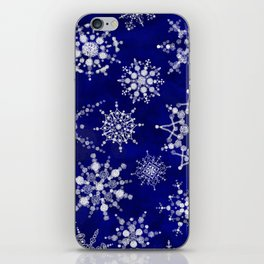 Snowflakes Floating through the Sky iPhone Skin