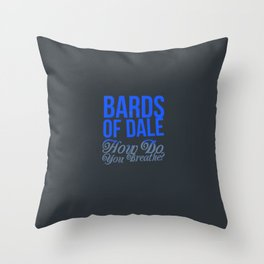 Bards of Dale Throw Pillow