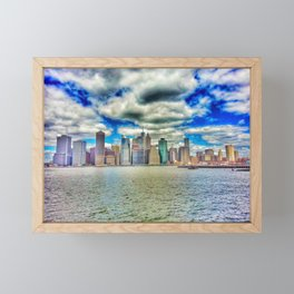 New York Sky Framed Mini Art Print