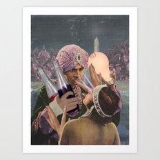 MEET ME IN THE GARDEN Art Print