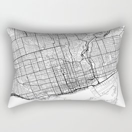 Toronto Map White Rectangular Pillow