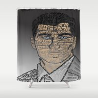 archer Shower Curtains featuring Typographic Sterling Archer by aquenne