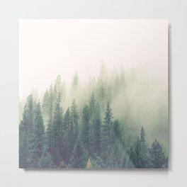 My Peacful Misty Forest II Metal Print