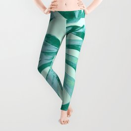 Tropical Monstera Leaves Dream #4 #tropical #decor #art #society6 Leggings
