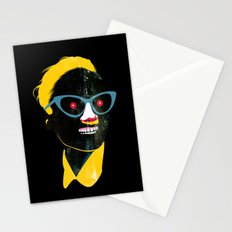Smile in black Stationery Cards