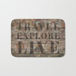 Travel Explore Live (Old Map) Bath Mat