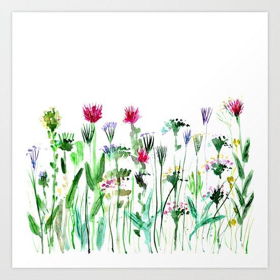 Summer || watercolor Art Print