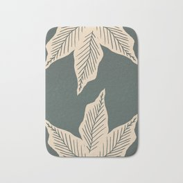Surrounded by Plant Lovers - Green & Beige Bath Mat