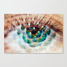 Green Eyes Hypnotize  Canvas Print