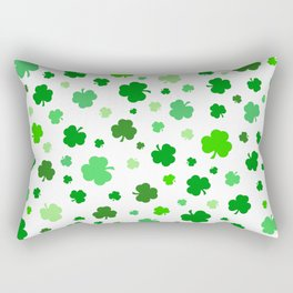 Green Shamrock Pattern Rectangular Pillow