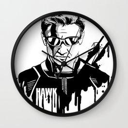 Avengers in Ink: Hawkeye Wall Clock