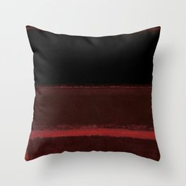 1958 Four Darks on Red by Mark Rothko Throw Pillow