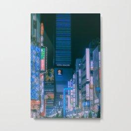 Shinjuku lights at night, Cyberpunk/Blade runner vibes Metal Print