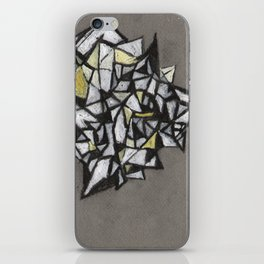 Yellow Structure iPhone Skin