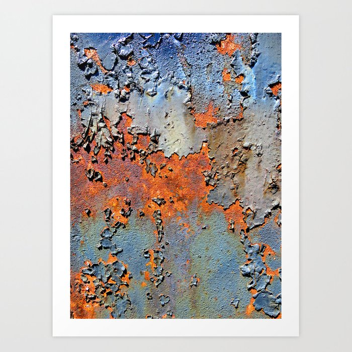Rusted and Peeling 3 Art Print