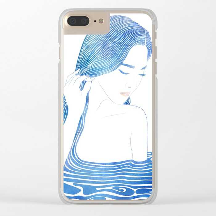 Water Nymph LXIX Clear iPhone Case