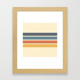 Kenshin - Classic Old School Retro Stripes Framed Art Print