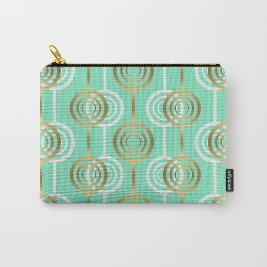 Gold and Mint Carry-All Pouch