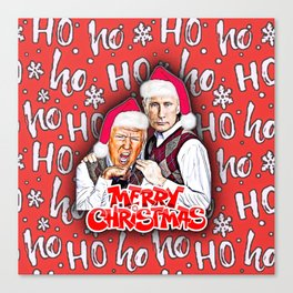 Merry Christmas From Trump And Putin Canvas Print