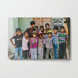 India Sandlot Metal Print