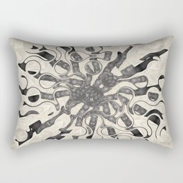 Vintage Tear Drop Abstract Rectangular Pillow