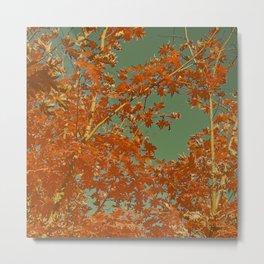 Vintage Fall Abstract Metal Print