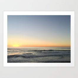 Sunset in Cardiff Art Print