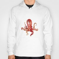 watercolour Hoodies featuring octo by Okti